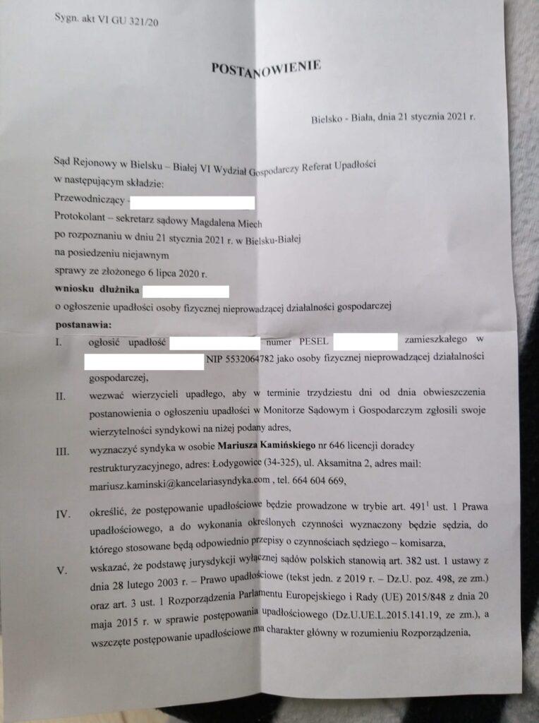 Upadłość Konsumencka Bielsko-Biała