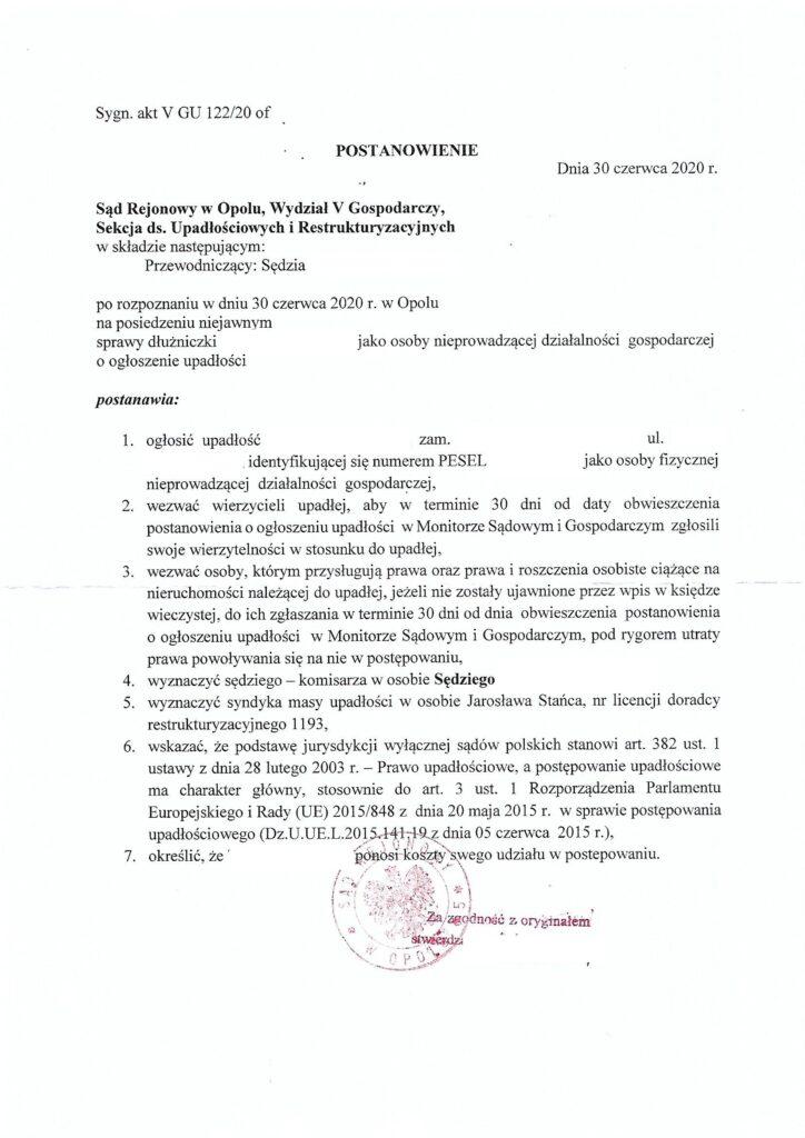 Upadłość Konsumencka Opole